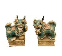 Asiatische Wächterlöwen aus Porzellan - Keramik, Vietnam