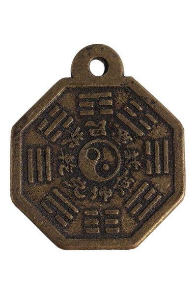 Chinesischer Bronze Anhänger Ying & Yang