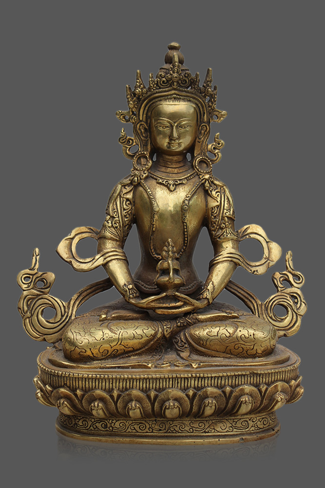 amitayus buddha statue amitayus figur online kaufen asien lifestyle. Black Bedroom Furniture Sets. Home Design Ideas