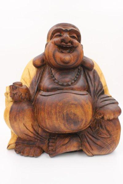 Buddha Figur Hotai aus Holz