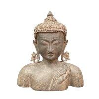 Buddha Büste Bronze Skulptur - Nepal