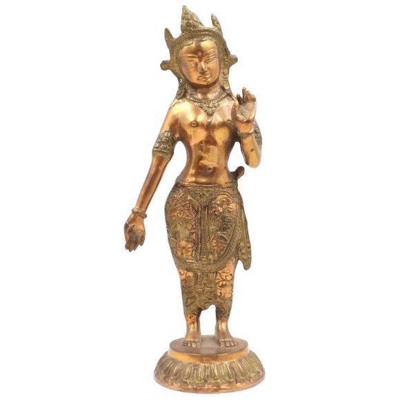 Stehendre Weiße Tara Buddha (30,5cm) Bronze Figur