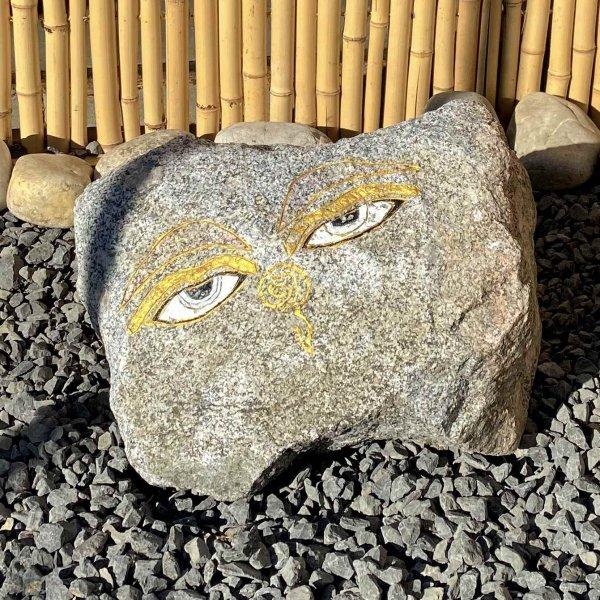 Buddha Eye 's auf Granit Stein