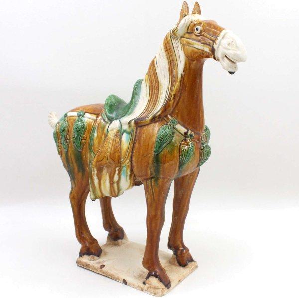 Keramik Tang Pferd China (40,5cm) Terrakotta Ton Figur