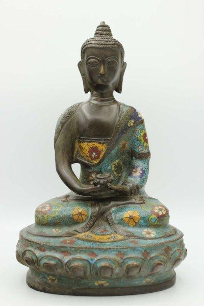 Cloisonne Amitabha Buddha Figur - China