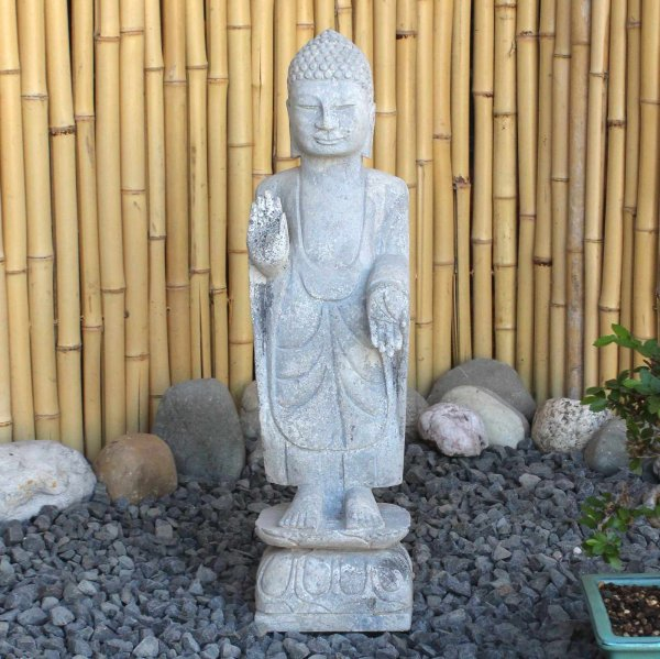 Amoghasiddhi Garten Buddha (50cm) Naturstein Statue