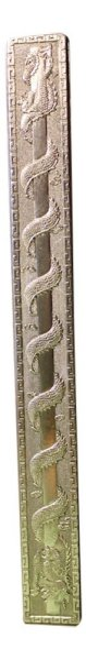 Drachen Figur Briefbeschwerer aus Bronze