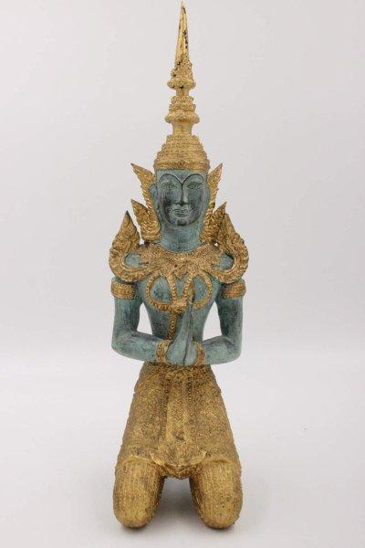 41,5cm Tempelwächter - Teppanom Figur aus Bronze, Thailand