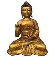 Tibet Buddha Figur Bronze Skulptur - fein ziseliert