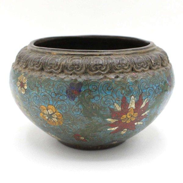 China Bronze Räuchergefäß Cloisonne - mit Räucherkegel