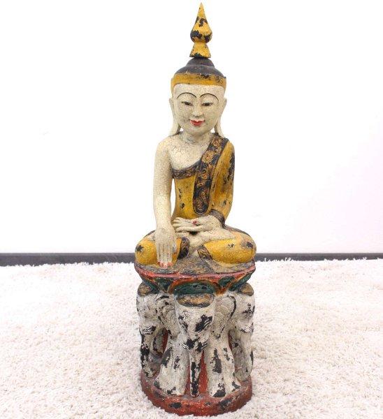 Siddharta Buddha Figur Monkeywood (74cm) Thailand Holz Statue