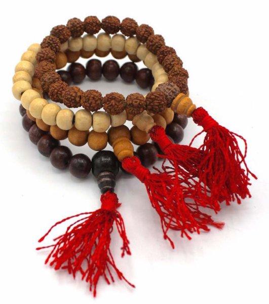 Buddhistischer Handmala Mix aus Holz