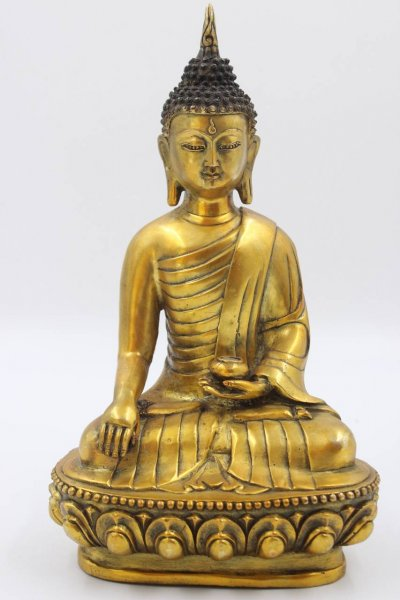 Siddharta Gautama Buddha Figur aus Bronze