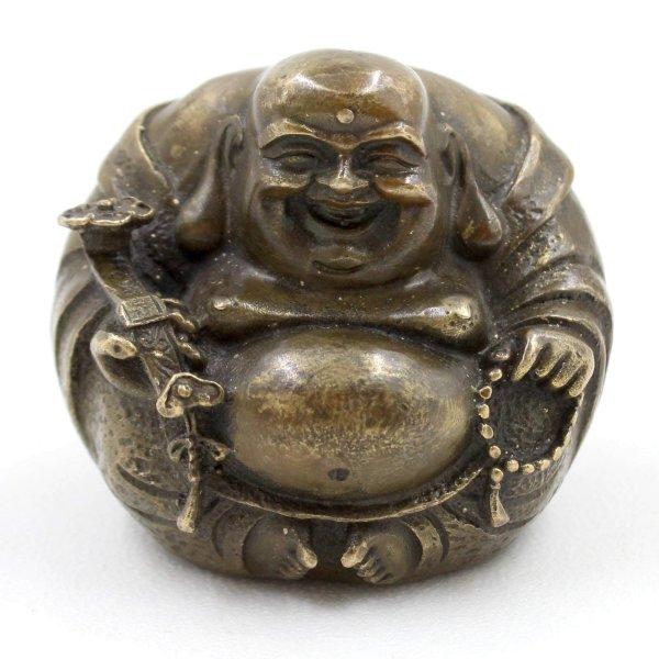 Figur Dekoration Buddha Skulptur Happy Buddha stehend 37cm aus Ton