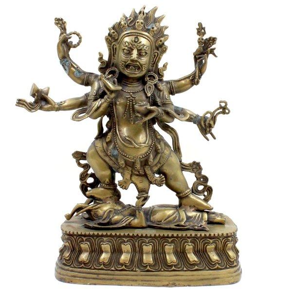 Mahakala Bronze Figur (34cm) Buddhistischer Beschützer