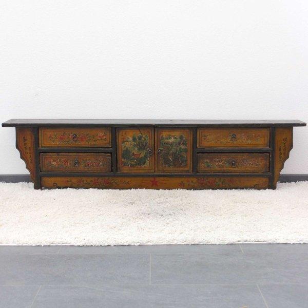 Bemaltes Lowboard aus Ulmenholz (151cm)