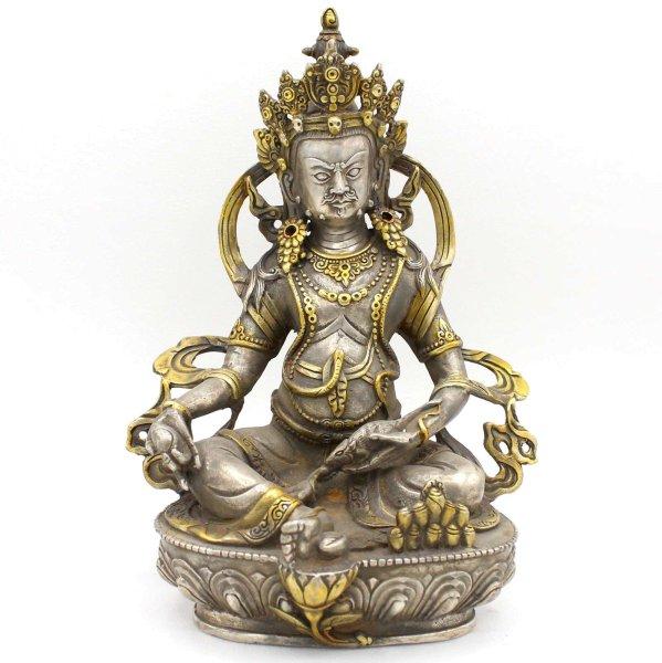 Kubera Jambhala Bronze Figur (21,5cm) Buddha Statue