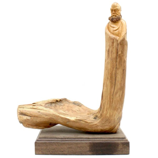 Buddhistische Arhat Figur (26,5cm) Zedern Holz Lohan