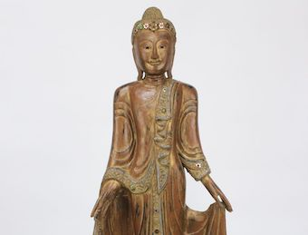 Stehender Thai Buddha: aus Monkeywood