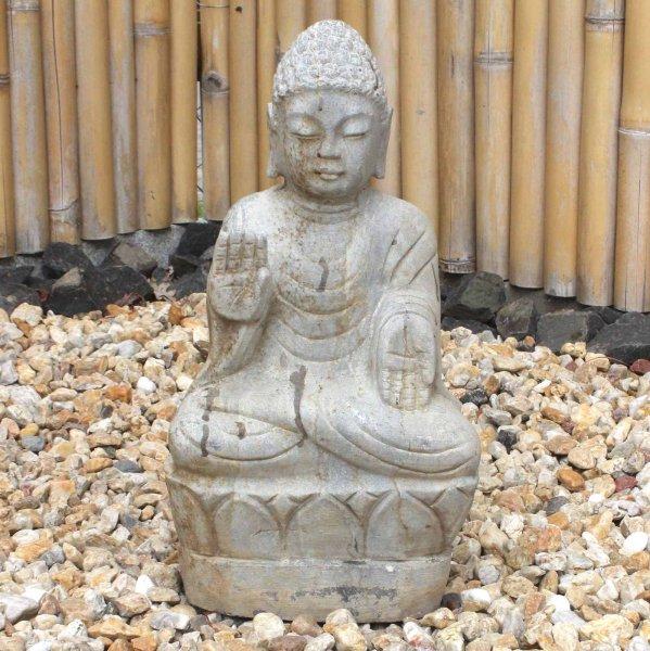 Asiatischer Garten Buddha (51cm) Stein Amoghasiddhi Statue
