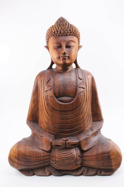 Buddha Figur Amitabha, Holz