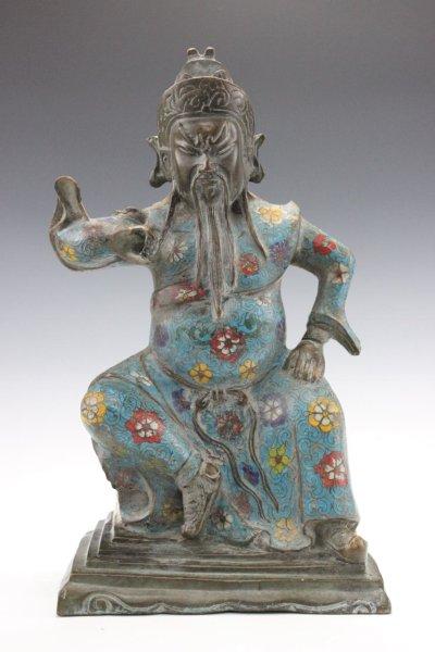 General Guan Yu, Kwan Kong General aus Bronze