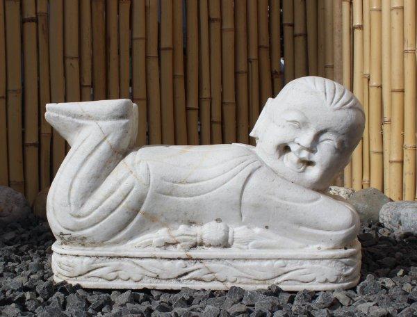 Baby Buddha Figur Siddharta aus Marmor Stein