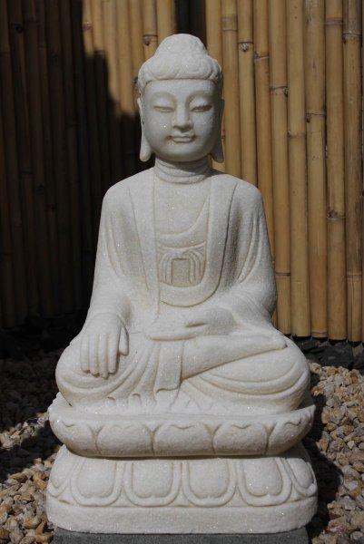 Siddharta Gautama Buddha Figur Marmorstein