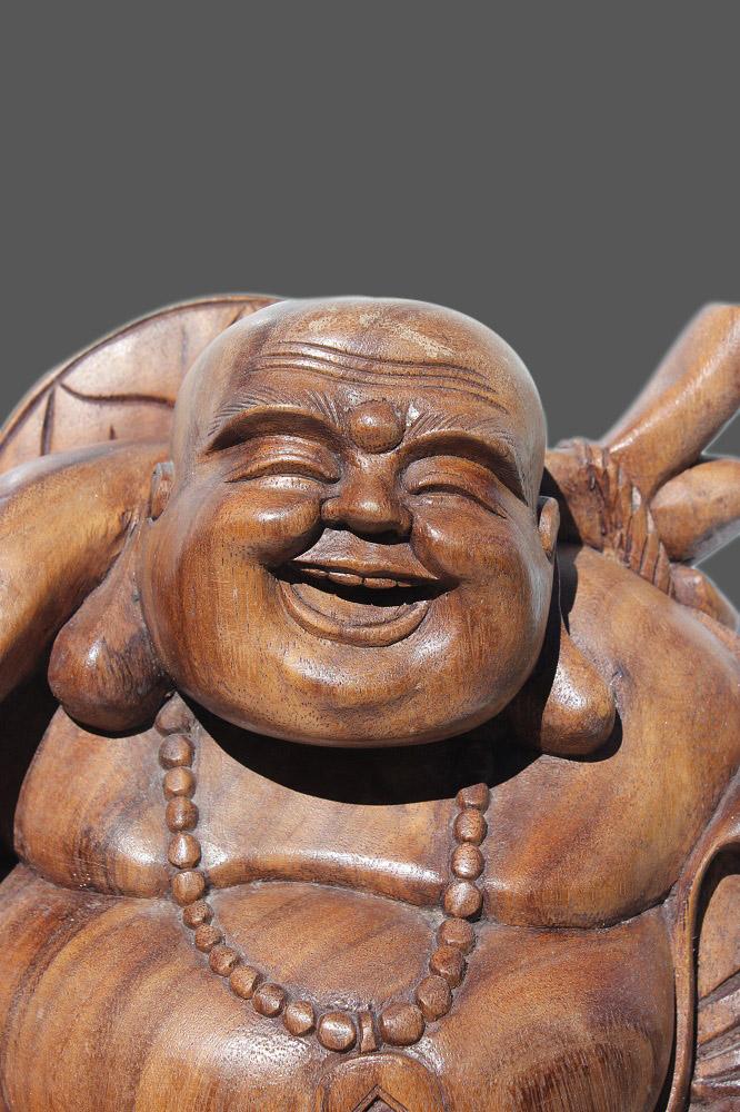 Hotai buddha figur teak holz skulptur meisterwerk aus for Buddha figur holz
