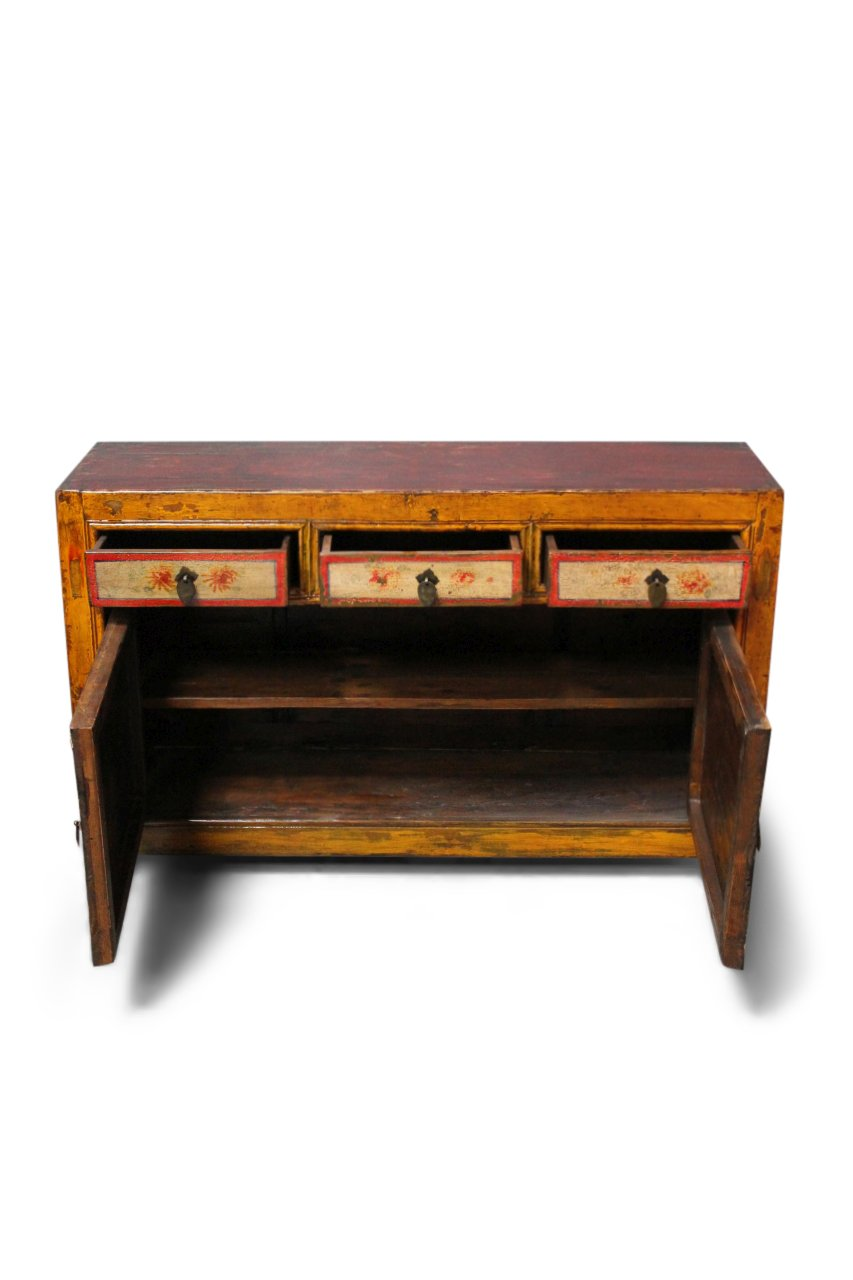 Chinesisches Sideboard Rote Kommode China Mobel Asia Restauriert