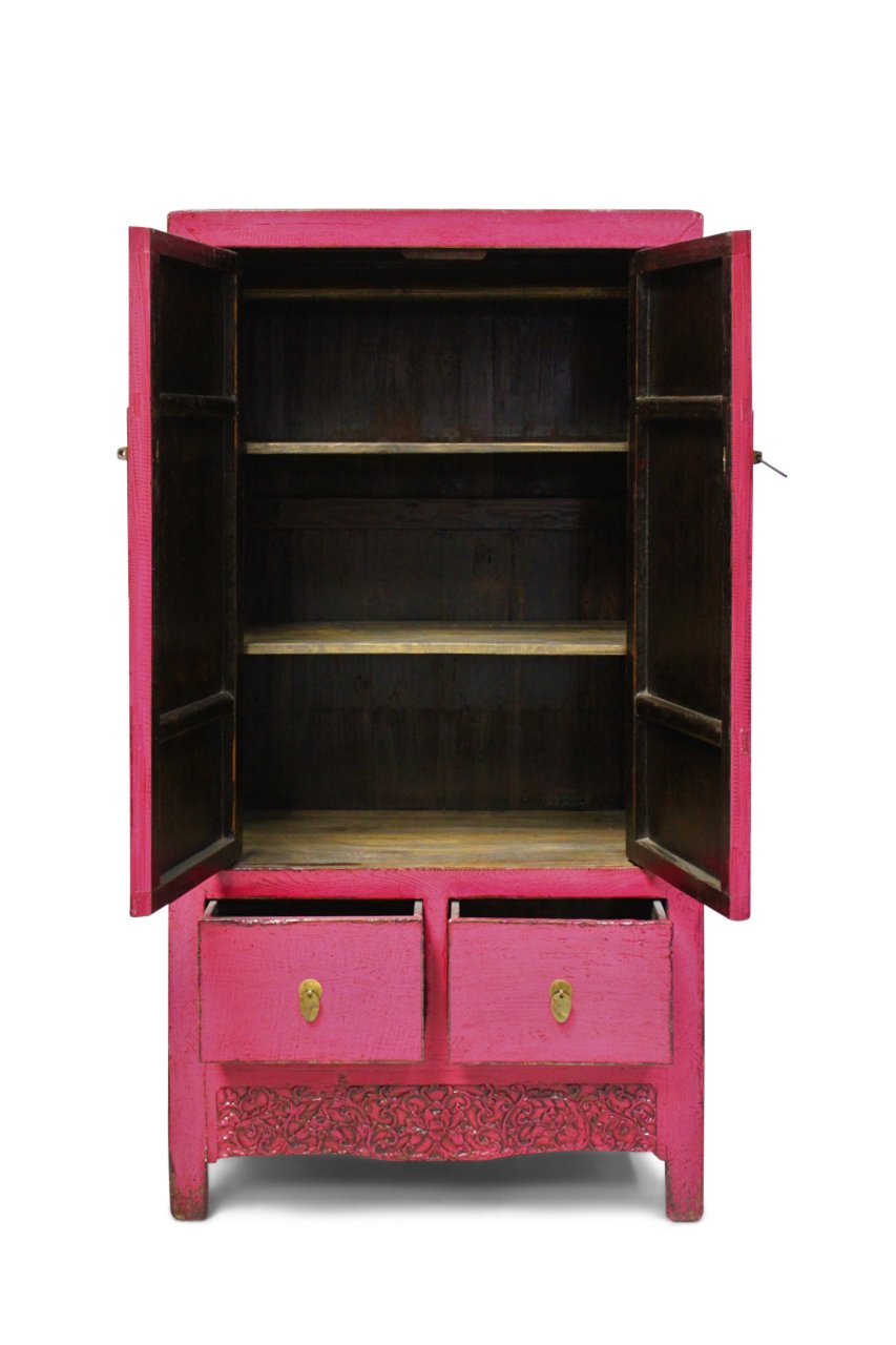 Wedding closet china asian cabinet elm wood magenta asia for Hochwertige klassische mobel