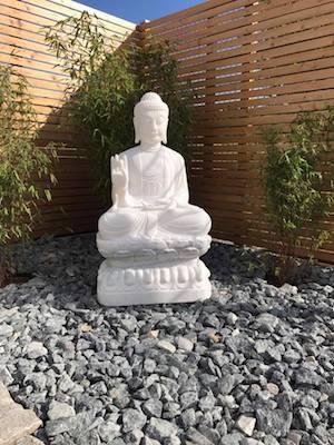 Marmor Buddha Figur