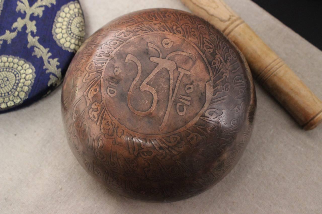 Traditionelle Tibet Klangschale 1024gramm Handgefertigt 7 Metalle Asienlifestyle Hand Percussion Klangschalen