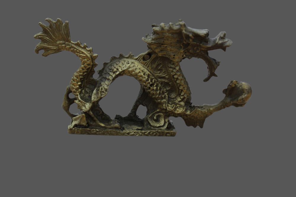 chinesische drachen figur aus china drache aus bronze asiatika asien skulptur ebay. Black Bedroom Furniture Sets. Home Design Ideas