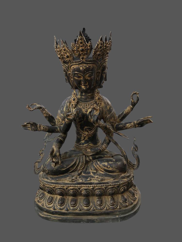 Usnisa vijaya buddha figur bronze buddha statue china for Buddha figur