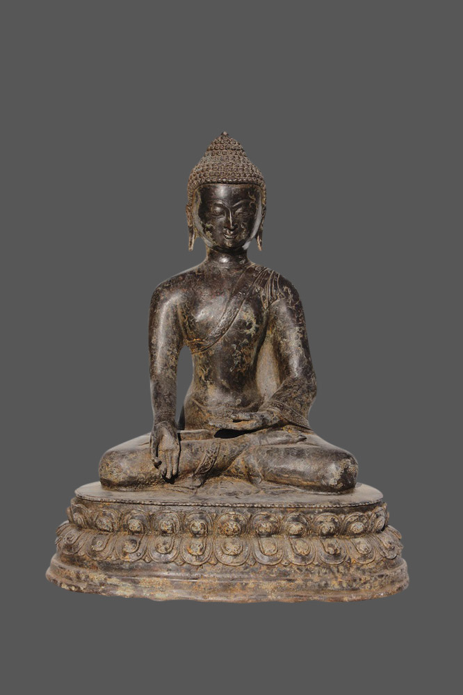 buddha figur bronze budda china buddha mit der geste der wunschgew hrung ebay. Black Bedroom Furniture Sets. Home Design Ideas