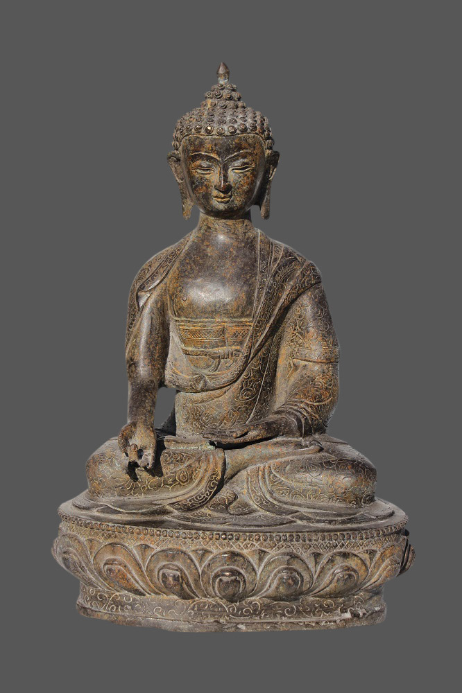 buddha figur bronze budda china buddha mit der geste der wunschgew hrung. Black Bedroom Furniture Sets. Home Design Ideas
