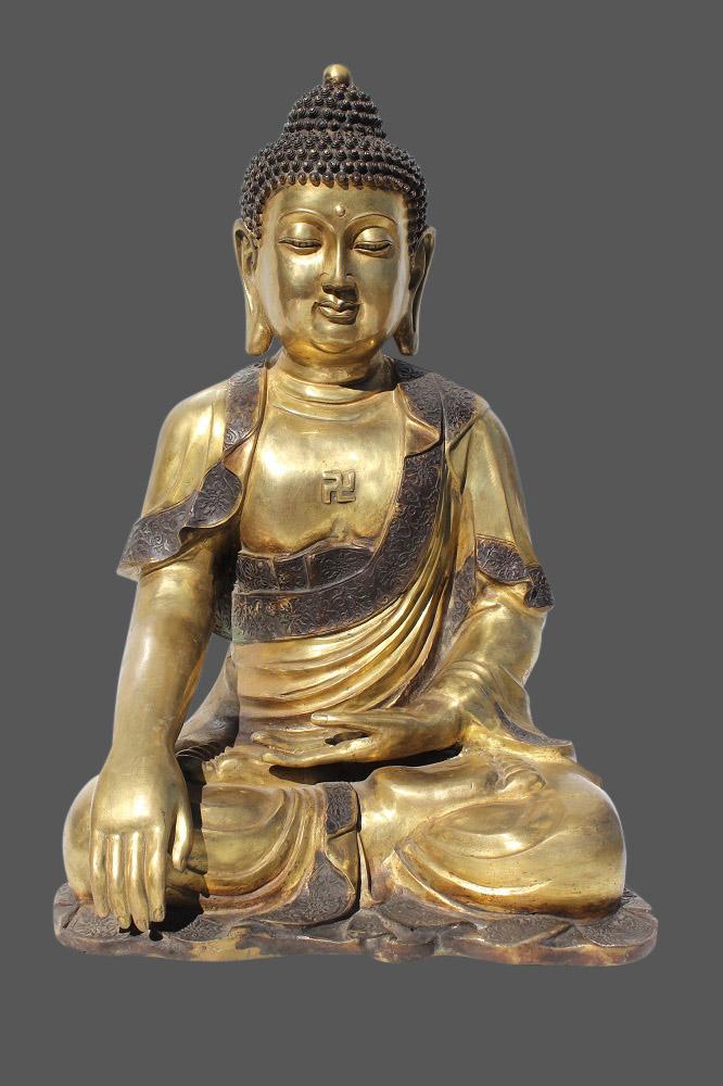Buddha figur bronze buddha statue aus china tibet for Buddha figur