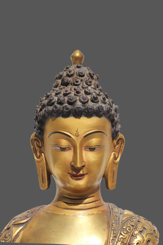 Buddha figur bronze buddha statue aus nepal tibet for Buddha figur