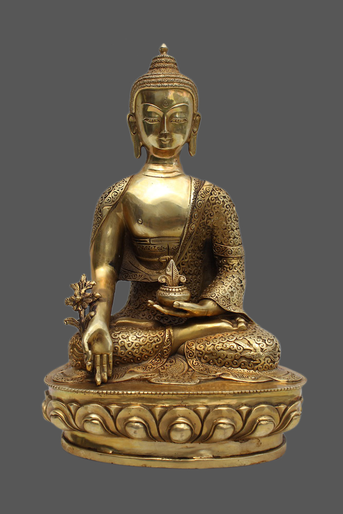 medizin buddha figur aus bronze tibet china statue m besonderem gesicht ebay. Black Bedroom Furniture Sets. Home Design Ideas