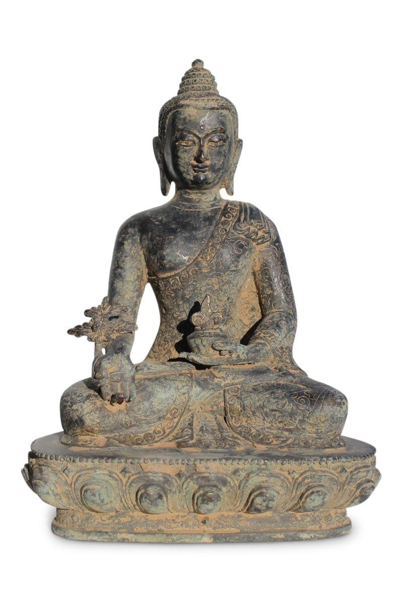Medizin buddha figur aus bronze tibet china statue for Buddha figur