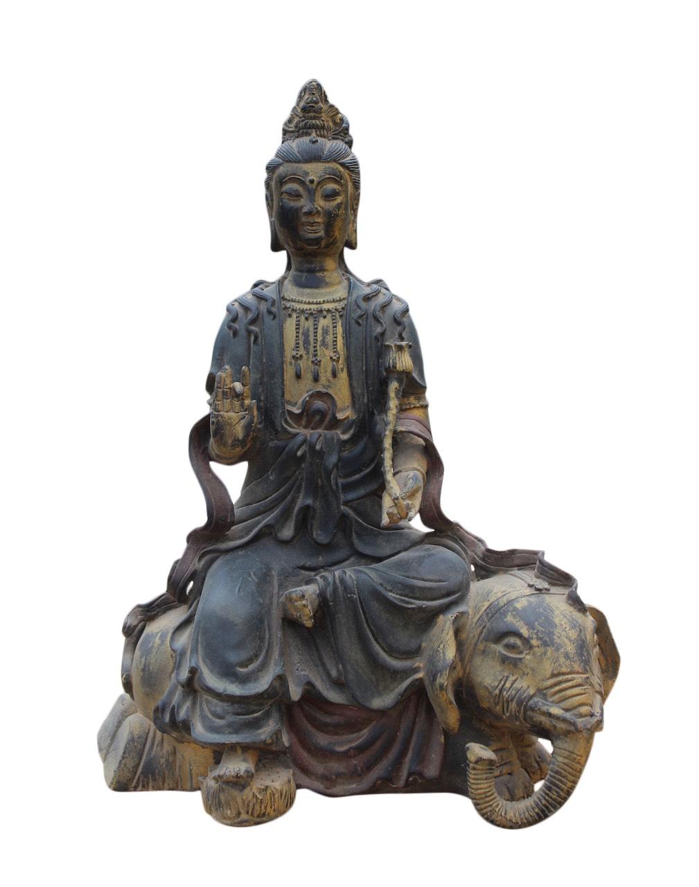 Kwan yin bouddha figure bronze buddha statue guanyin for Figur buddha