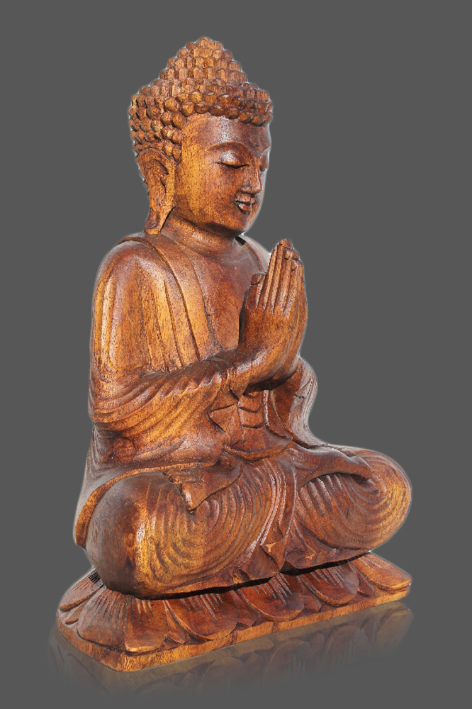 namaskar buddha figur holz buddah statue thai budda thailand skulptur asien ebay. Black Bedroom Furniture Sets. Home Design Ideas