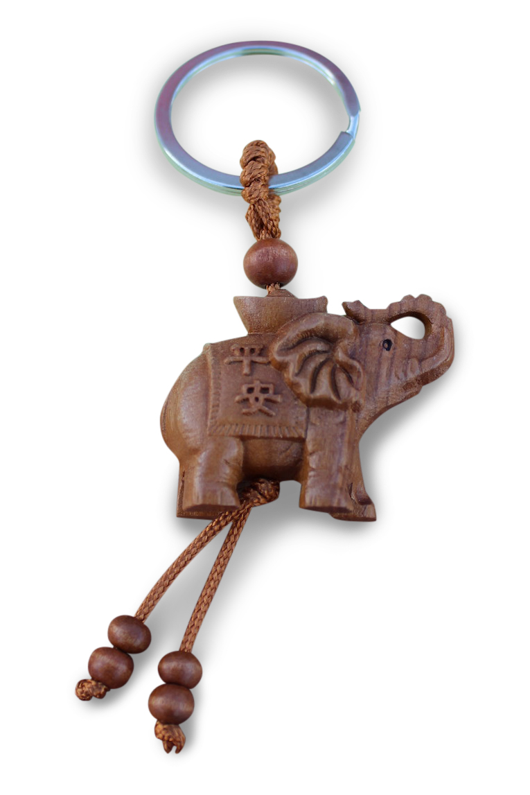 schl sselanh nger aus rosenholz gl cksbringender elefant mit r ssel nach oben ebay. Black Bedroom Furniture Sets. Home Design Ideas