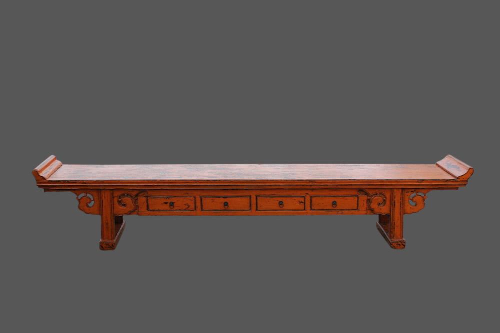 lowboard sideboard aus china ulmenholz m bel orange. Black Bedroom Furniture Sets. Home Design Ideas