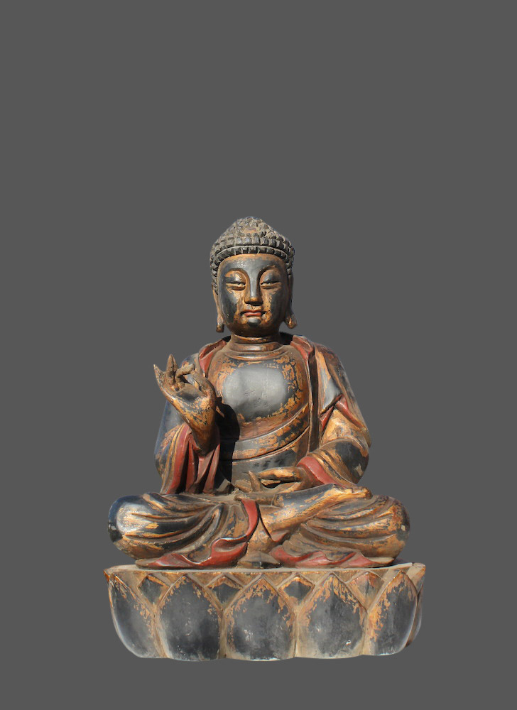gro e buddha figur aus holz buddha statue china budda gro asien skulptur ebay. Black Bedroom Furniture Sets. Home Design Ideas