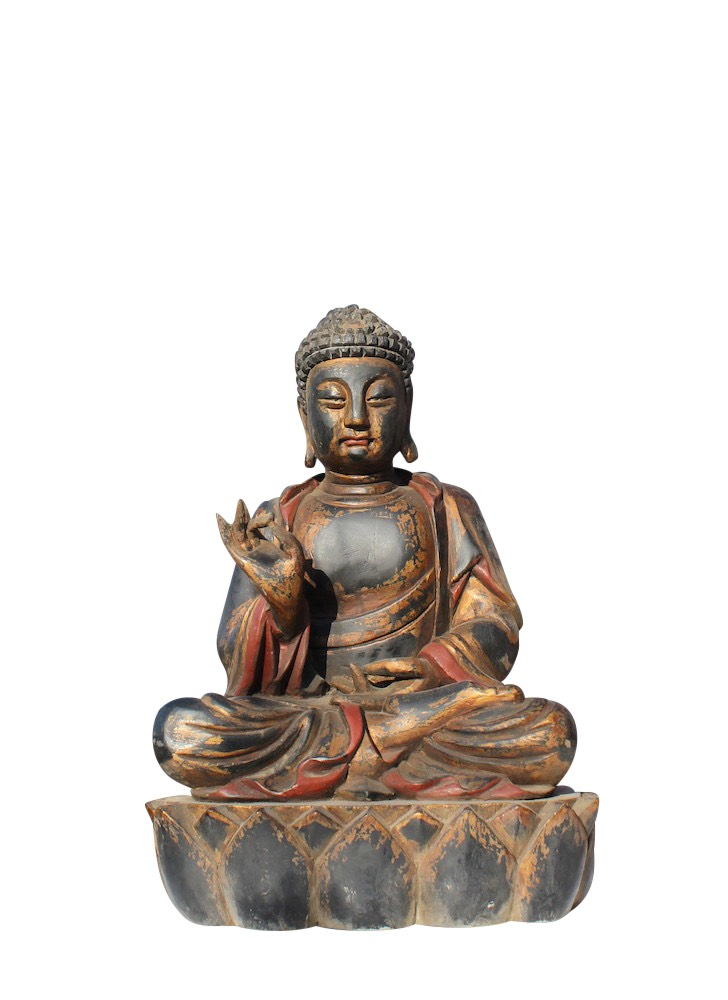 Big buddha figurine wooden buddha statue china budda large for Buddha statue holz
