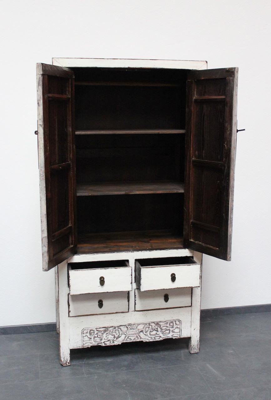 Chino armario de boda blanco mueble china gabinete asi tico armario ebay - Armario de boda chino ...