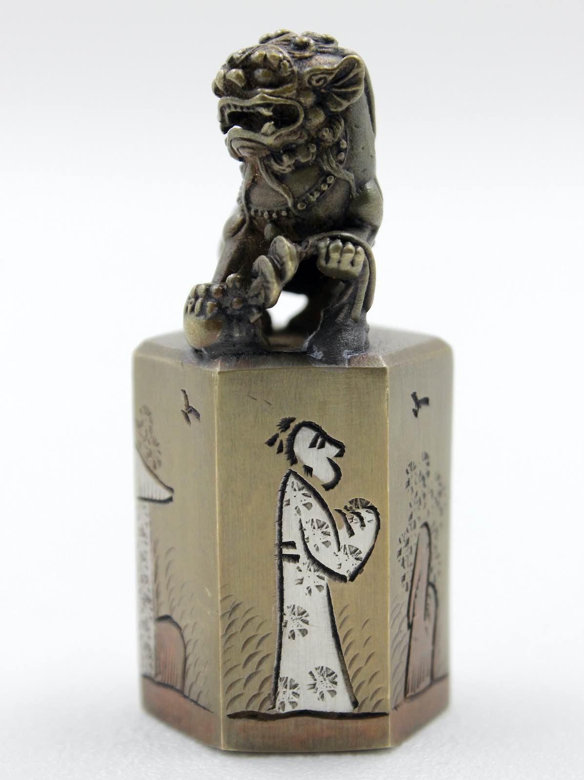 TEMPELLÖWE Miniatur Figur Tempel Löwe